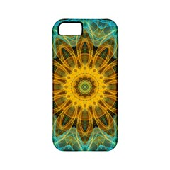 Blue Yellow Ocean Star Flower Mandala Apple Iphone 5 Classic Hardshell Case (pc+silicone) by Zandiepants