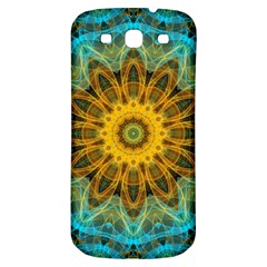 Blue Yellow Ocean Star Flower Mandala Samsung Galaxy S3 S Iii Classic Hardshell Back Case by Zandiepants