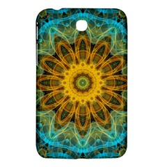 Blue Yellow Ocean Star Flower Mandala Samsung Galaxy Tab 3 (7 ) P3200 Hardshell Case  by Zandiepants