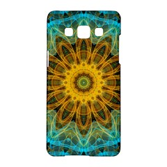 Blue Yellow Ocean Star Flower Mandala Samsung Galaxy A5 Hardshell Case  by Zandiepants