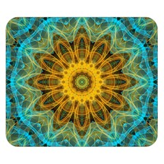Blue Yellow Ocean Star Flower Mandala Double Sided Flano Blanket (small) by Zandiepants