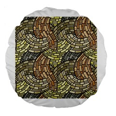 Whimsical Large 18  Premium Flano Round Cushions by FunkyPatterns