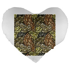 Whimsical Large 19  Premium Flano Heart Shape Cushions by FunkyPatterns