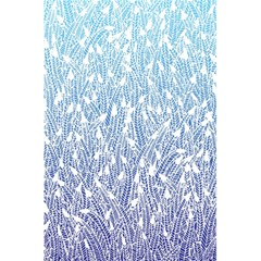 Blue Ombre Feather Pattern, White, 5 5  X 8 5  Notebook by Zandiepants