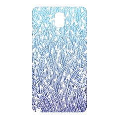 Blue Ombre Feather Pattern, White, Samsung Galaxy Note 3 N9005 Hardshell Back Case by Zandiepants