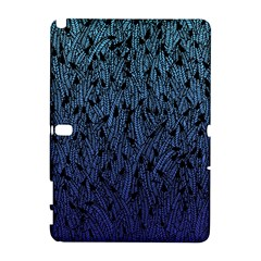 Blue Ombre Feather Pattern, Black, Samsung Galaxy Note 10 1 (p600) Hardshell Case by Zandiepants