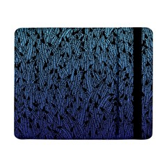 Blue Ombre Feather Pattern, Black, Samsung Galaxy Tab Pro 8 4  Flip Case by Zandiepants