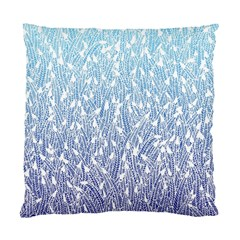 Blue Ombre Feather Pattern, White, Standard Cushion Case (two Sides) by Zandiepants