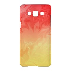 Ombre Orange Yellow Samsung Galaxy A5 Hardshell Case  by BrightVibesDesign