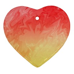 Ombre Orange Yellow Ornament (heart)  by BrightVibesDesign