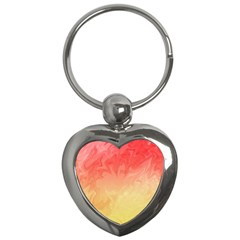 Ombre Orange Yellow Key Chains (heart)  by BrightVibesDesign