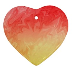 Ombre Orange Yellow Heart Ornament (2 Sides) by BrightVibesDesign