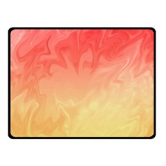 Ombre Orange Yellow Fleece Blanket (small) by BrightVibesDesign