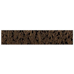 Brown Ombre Feather Pattern, Black,  Flano Scarf (small) by Zandiepants