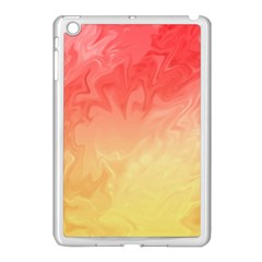 Ombre Orange Yellow Apple Ipad Mini Case (white) by BrightVibesDesign