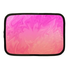 Ombre Pink Orange Netbook Case (medium)  by BrightVibesDesign