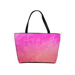 Ombre Pink Orange Shoulder Handbags by BrightVibesDesign