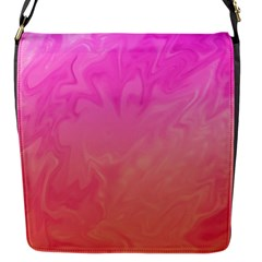 Ombre Pink Orange Flap Messenger Bag (s)