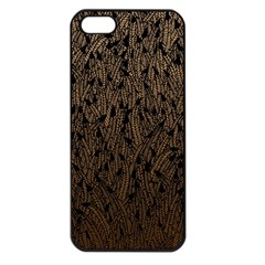 Brown Ombre Feather Pattern, Black, Apple Iphone 5 Seamless Case (black) by Zandiepants
