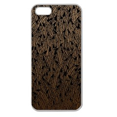 Brown Ombre Feather Pattern, Black, Apple Seamless Iphone 5 Case (clear) by Zandiepants