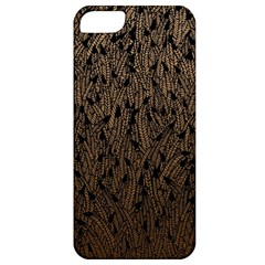 Brown Ombre Feather Pattern, Black, Apple Iphone 5 Classic Hardshell Case by Zandiepants