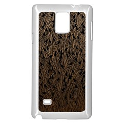 Brown Ombre Feather Pattern, Black, Samsung Galaxy Note 4 Case (white) by Zandiepants