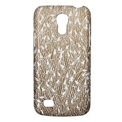 Brown Ombre Feather Pattern, White, Samsung Galaxy S4 Mini (gt I9190) Hardshell Case  by Zandiepants