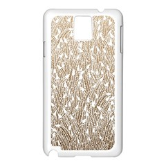 Brown Ombre Feather Pattern, White, Samsung Galaxy Note 3 N9005 Case (white) by Zandiepants