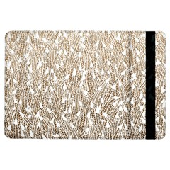Brown Ombre Feather Pattern, White, Apple Ipad Air Flip Case by Zandiepants