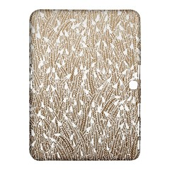 Brown Ombre Feather Pattern, White, Samsung Galaxy Tab 4 (10 1 ) Hardshell Case  by Zandiepants