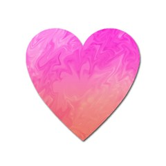 Ombre Pink Orange Heart Magnet by BrightVibesDesign