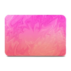 Ombre Pink Orange Plate Mats by BrightVibesDesign