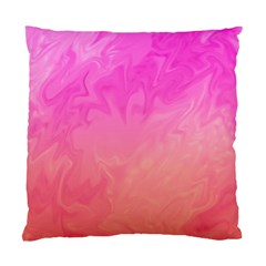Ombre Pink Orange Standard Cushion Case (two Sides) by BrightVibesDesign