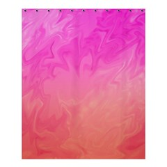 Ombre Pink Orange Shower Curtain 60  X 72  (medium)  by BrightVibesDesign
