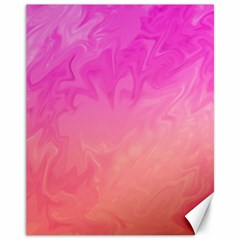 Ombre Pink Orange Canvas 11  X 14   by BrightVibesDesign