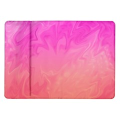 Ombre Pink Orange Samsung Galaxy Tab 10 1  P7500 Flip Case by BrightVibesDesign