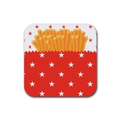 French Fries Drink Coaster (square) by walala