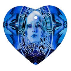 Clockwork Blue Ornament (heart)