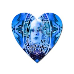 Clockwork Blue Heart Magnet by icarusismartdesigns
