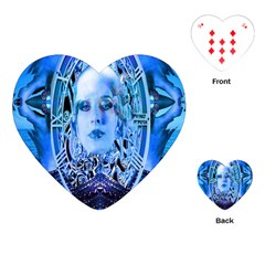 Clockwork Blue Playing Cards (heart)  by icarusismartdesigns