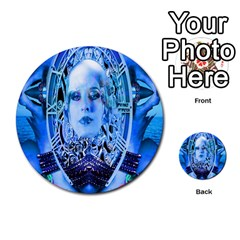 Clockwork Blue Multi Purpose Cards (round)  by icarusismartdesigns