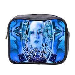 Clockwork Blue Mini Toiletries Bag 2 Side