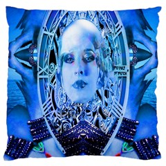 Clockwork Blue Large Cushion Case (two Sides) by icarusismartdesigns
