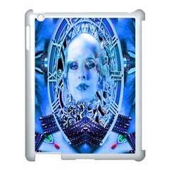 Clockwork Blue Apple Ipad 3/4 Case (white) by icarusismartdesigns
