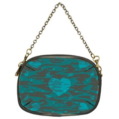 Camo Hearts Chain Purses (two Sides)  by TRENDYcouture