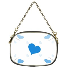 Blue Hearts Chain Purses (two Sides)  by TRENDYcouture