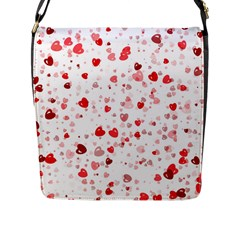 Bubble Hearts Flap Messenger Bag (l)  by TRENDYcouture