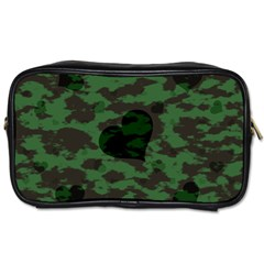 Green Camo Hearts Toiletries Bags 2 Side by TRENDYcouture