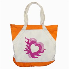 Hot Pink Love Accent Tote Bag by TRENDYcouture