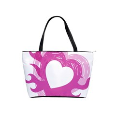 Hot Pink Love Shoulder Handbags by TRENDYcouture